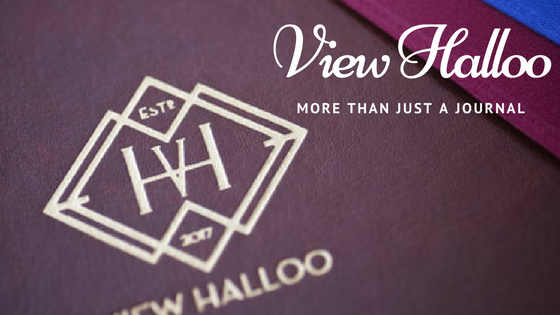 View Halloo: More Than Just a Journal